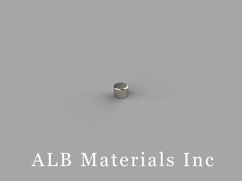 D203 Neodymium Magnets, 1/8 inch dia. x 3/32 inch thick