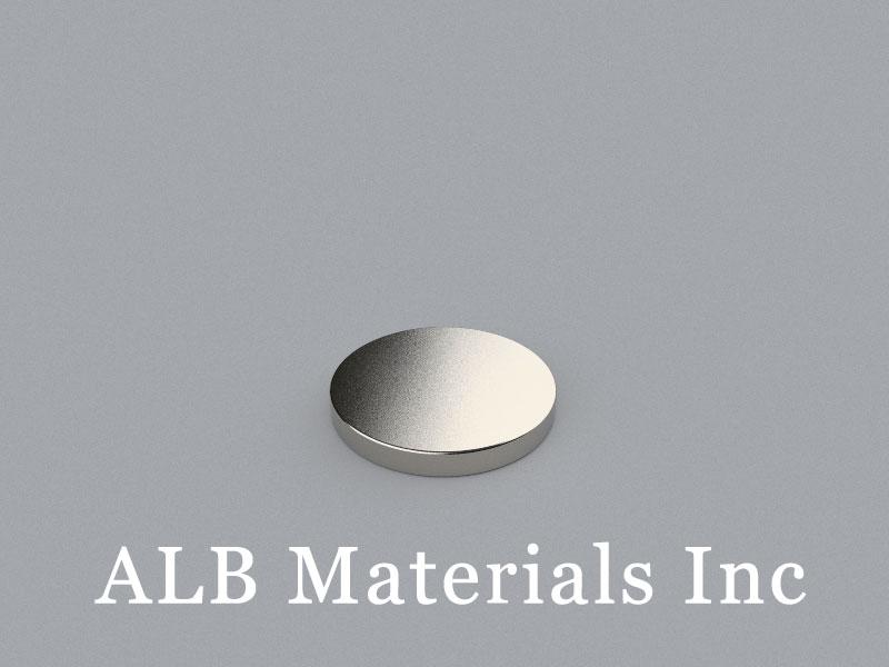 D-D25.4H3.175-N42 Neodymium Magnet, 25.4x3.175mm Disc Magnet