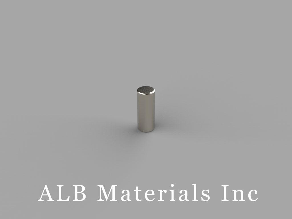 D25 Neodymium Magnets, 1/8 inch dia. x 5/16 inch thick