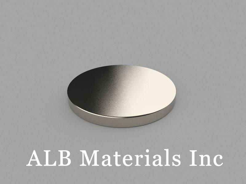 D-D25H2.5-N38 Neodymium Magnet, 25x2.5mm Disc Magnet
