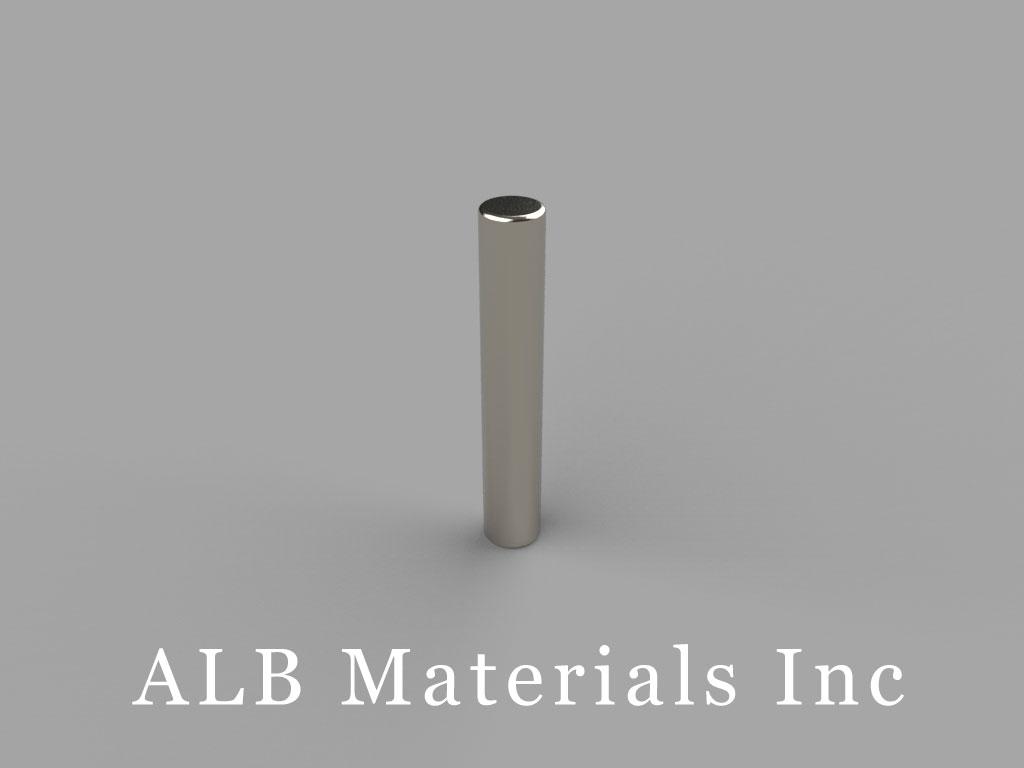 D2C Neodymium Magnets, 1/8 inch dia. x 3/4 inch thick