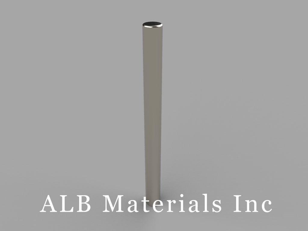 D2X8 Neodymium Magnets, 1/8 inch dia. x 1 1/2 inch thick