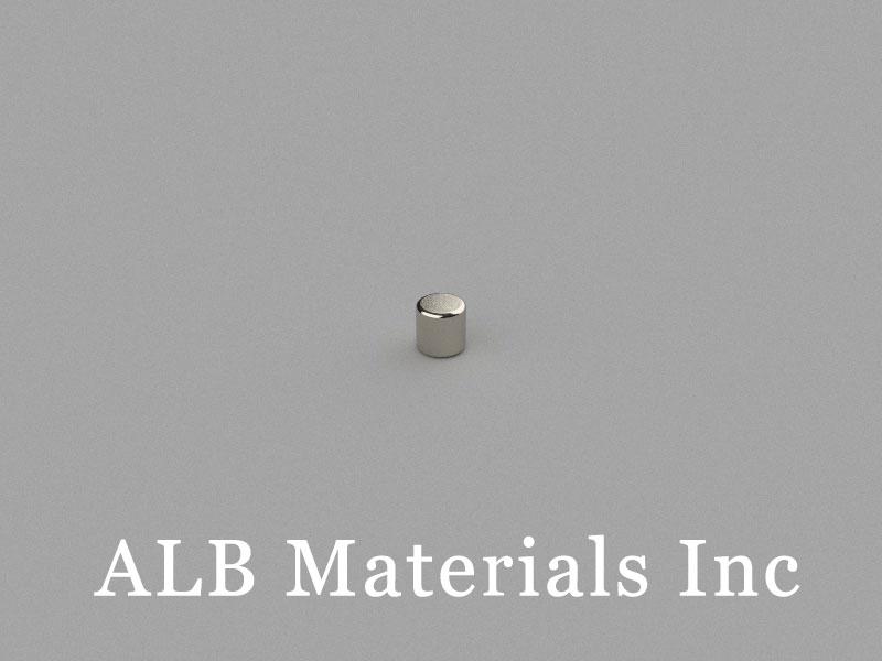 C-D2H2-N48 Neodymium Magnet, 2x2mm Cylinder Magnet