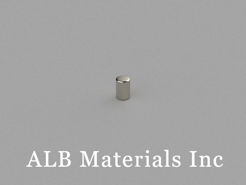 C-D2H3-N45 Neodymium Magnet, 2x3mm Cylinder Magnet