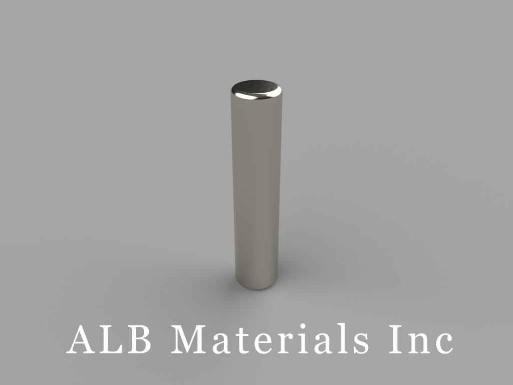 D3E Neodymium Magnets, 3/16 inch dia. x 7/8 inch thick