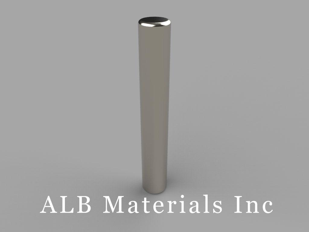D3X4 Neodymium Magnets, 3/16 inch dia. x 1 1/4 inch thick