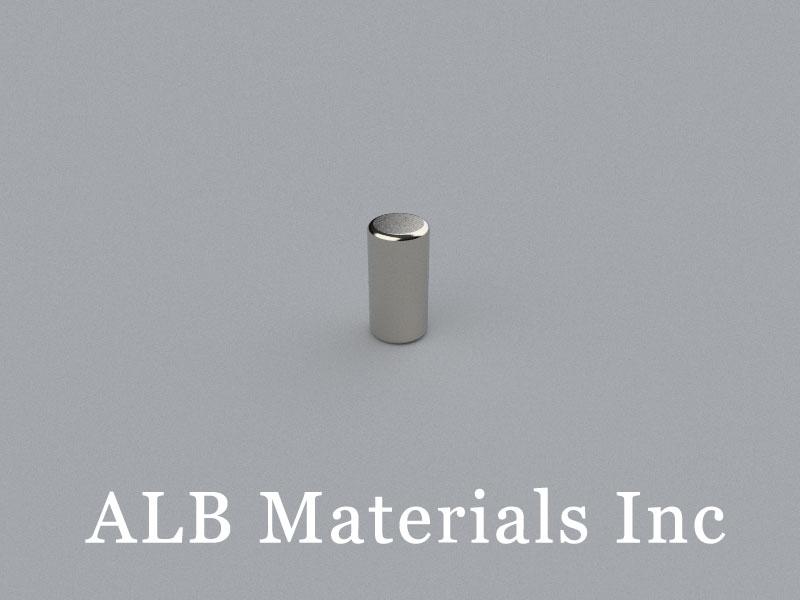C-D4.76H9.52-N50 Neodymium Magnet, 4.76x9.52mm Cylinder Magnet