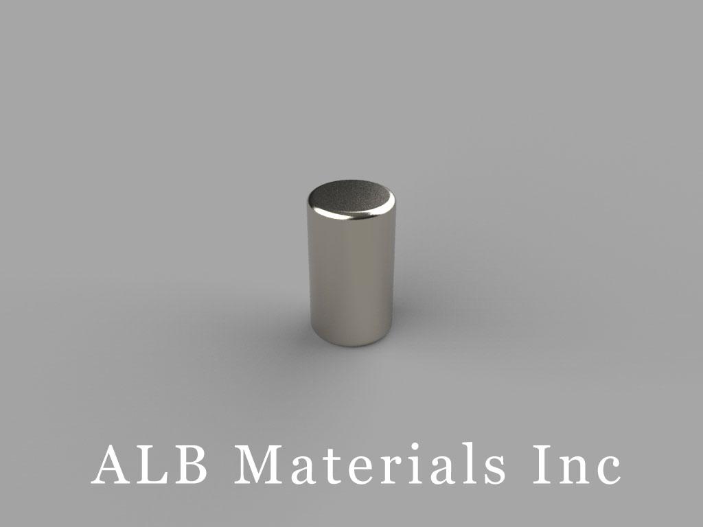D47 Neodymium Magnets, 1/4 inch dia. x 7/16 inch thick
