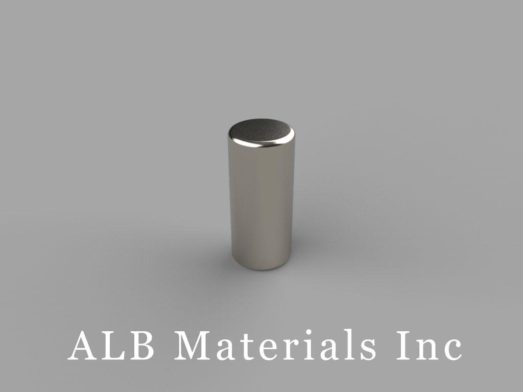 D49 Neodymium Magnets, 1/4 inch dia. x 9/16 inch thick