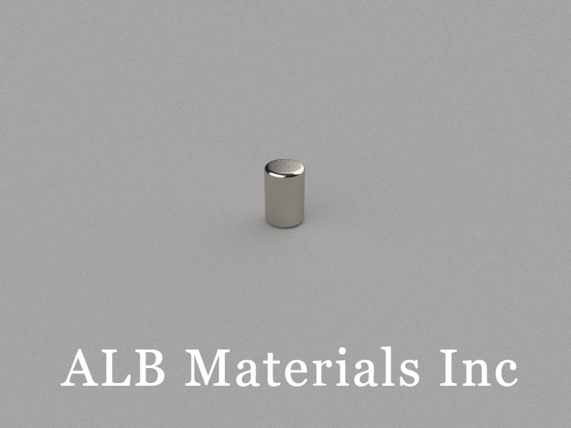 C-D4H6-N45 Neodymium Magnet, 4x6mm Cylinder Magnet