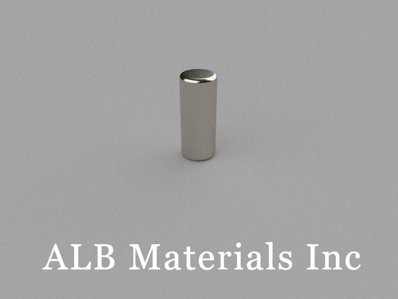 C-D5H12-N45 Neodymium Magnet, 5x12mm Cylinder Magnet