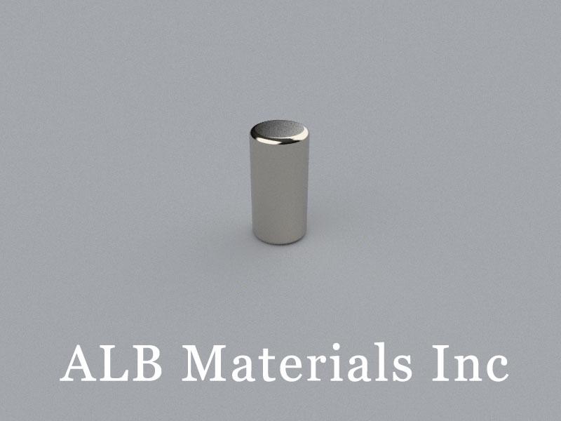 C-D6.35H12.7-N38 Neodymium Magnet, 6.35x12.7mm Cylinder Magnet
