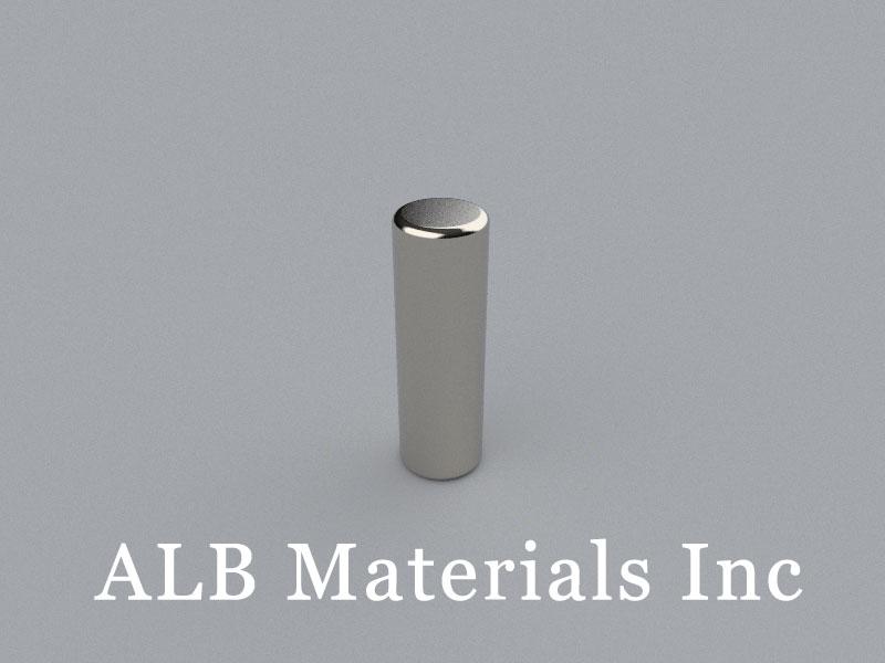 C-D6.35H20-N42 Neodymium Magnet, 6.35x20mm Cylinder Magnet