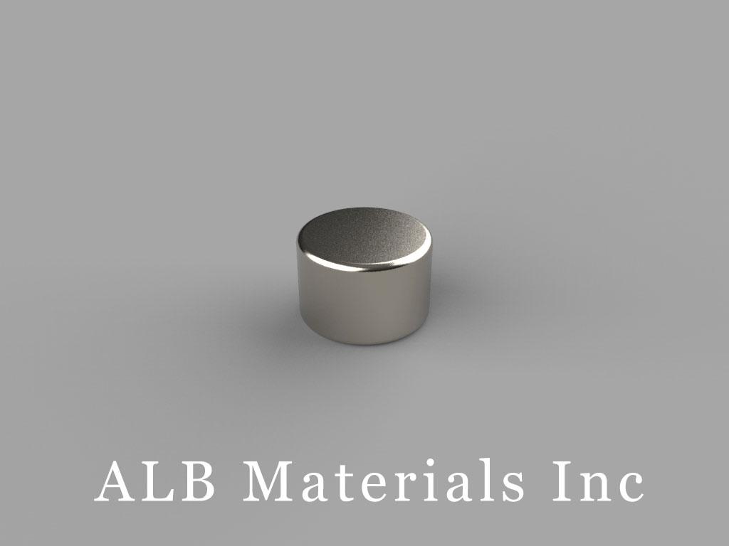 D64 Neodymium Magnets, 3/8 inch dia. x 1/4 inch thick