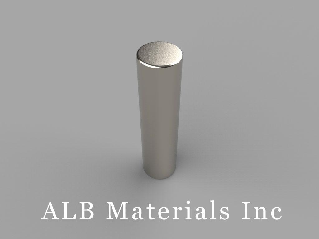 D6X8 Neodymium Magnets, 3/8 inch dia. x 1 1/2 inch thick