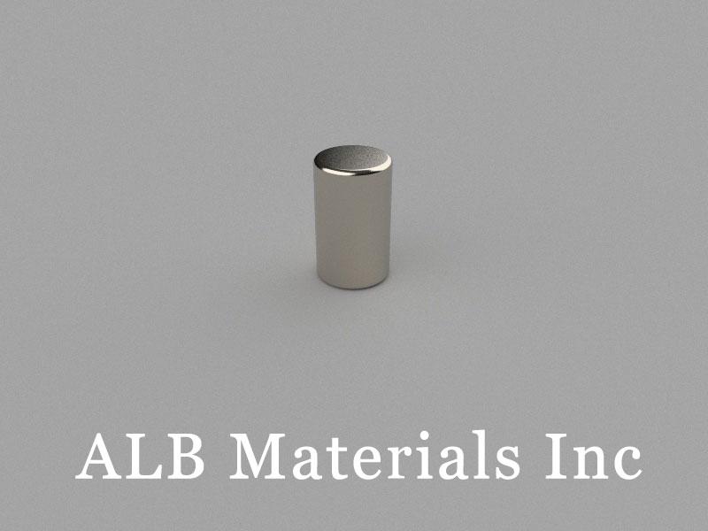 C-D6H10-N50 Neodymium Magnet, 6x10mm Cylinder Magnet