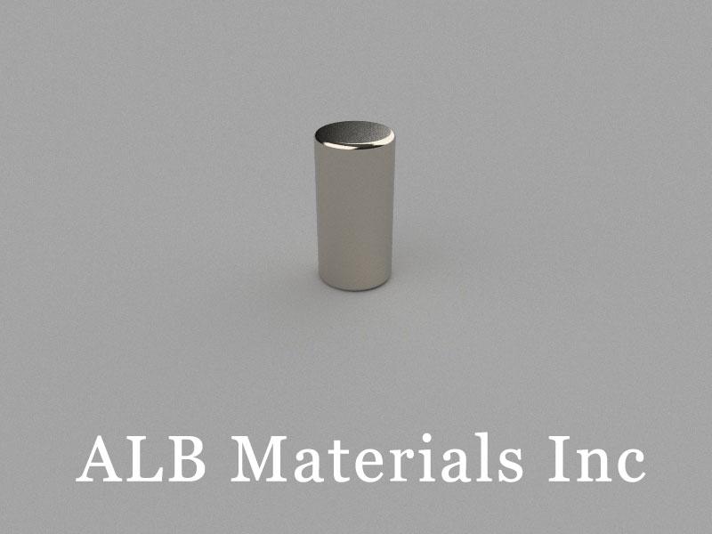 C-D6H12-N45 Neodymium Magnet, 6x12mm Cylinder Magnet
