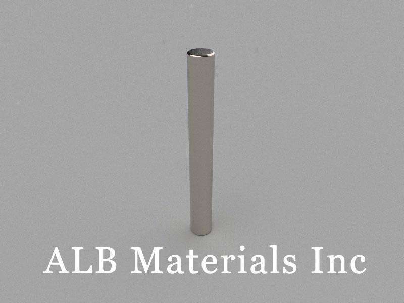 D6x50mm Neodymium Magnet, 6 x 50mm Cylinder Magnet