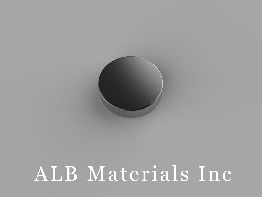 "D82B-N52 Neodymium Magnets, 1/2"" dia. x 1/8"" thick"