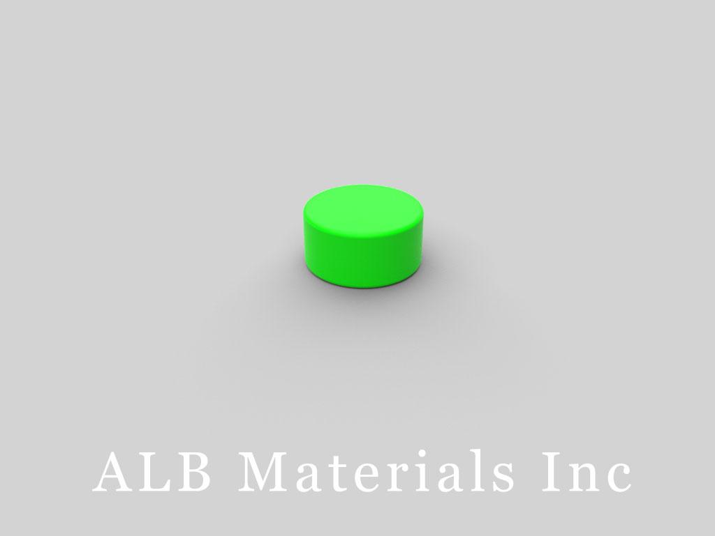 D84PC-GRN Plastic Coated Neodymium Magnets