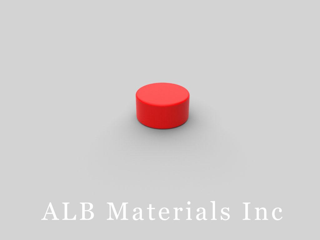 D84PC-RED Plastic Coated Neodymium Magnets