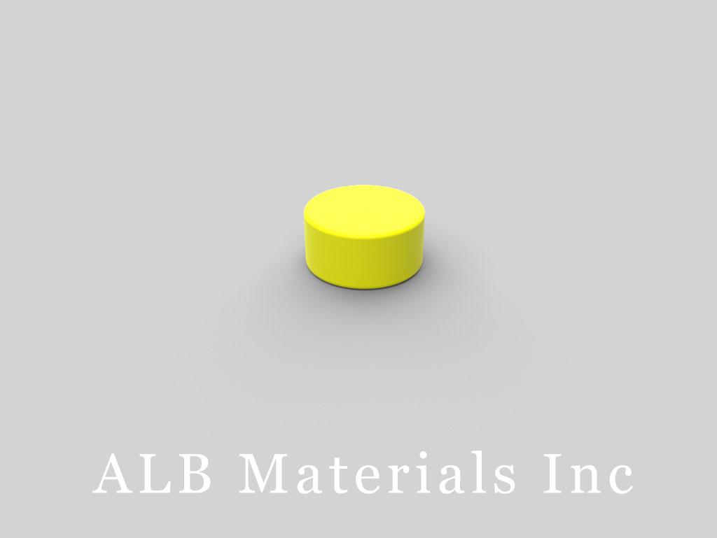D84PC-YEL Plastic Coated Neodymium Magnets