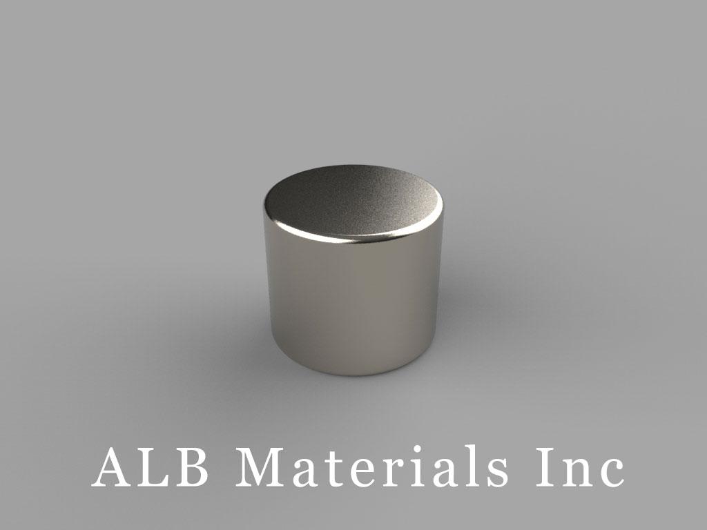 """D87-N40SH Neodymium Disc Magnets, 1/2"""" dia. x 7/16"""" thick, Pull force(lbs): 18.71, Max Temp 150°C"""