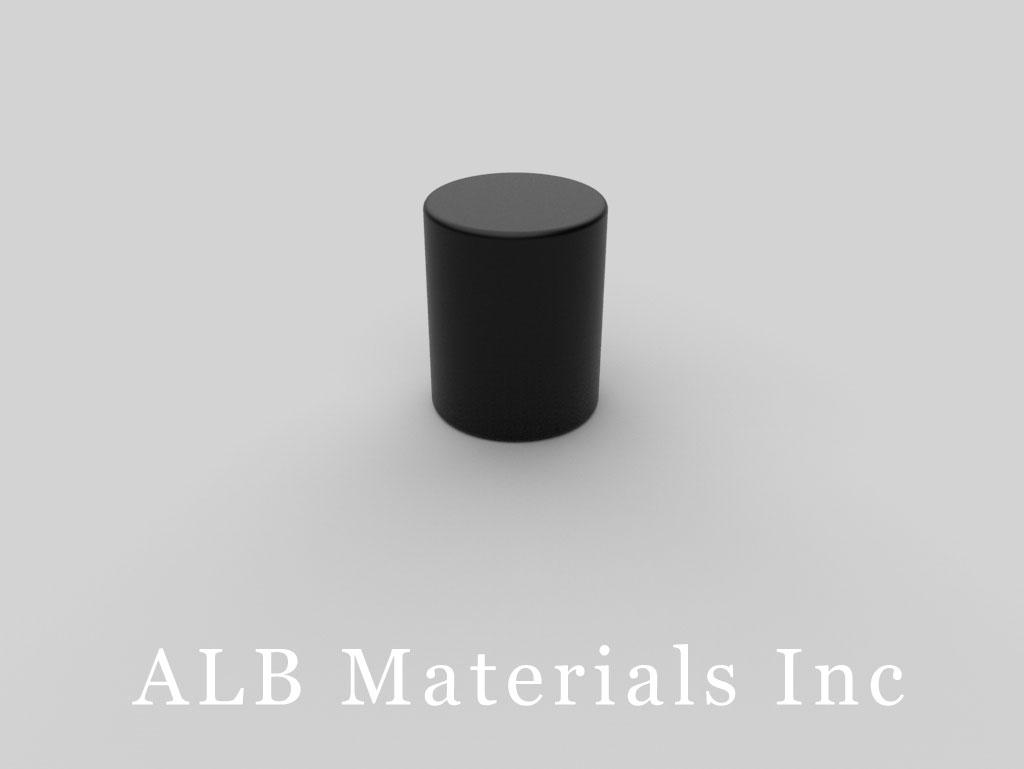 D8APC-BLK Plastic Coated Neodymium Magnets