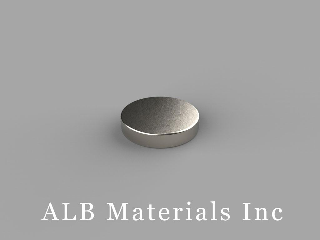 D8H1 Neodymium Magnets, 1/2 inch dia. x 1/10 inch thick