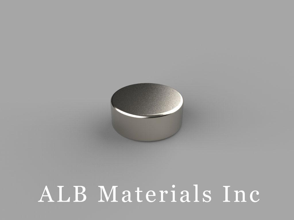 D8H2 Neodymium Magnets, 1/2 inch dia. x 2/10 inch thick