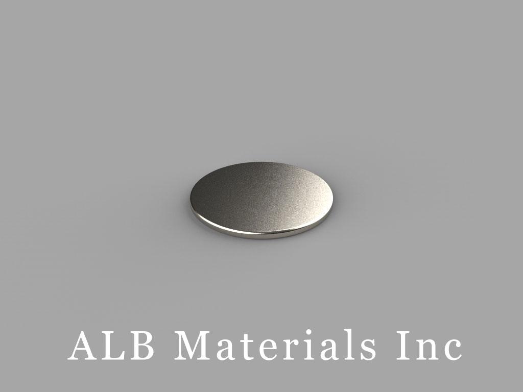 D901 Neodymium Magnets, 9/16 inch dia. x 1/32 inch thick