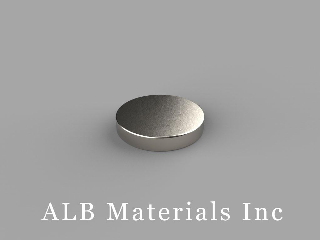 D9H1 Neodymium Magnets, 9/16 inch dia. x 1/10 inch thick