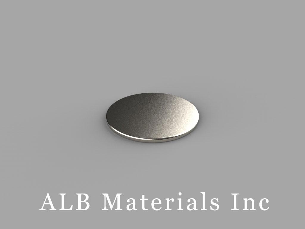 "DA01-N52 Neodymium Magnets, 5/8"" dia. x 1/32"" thick"