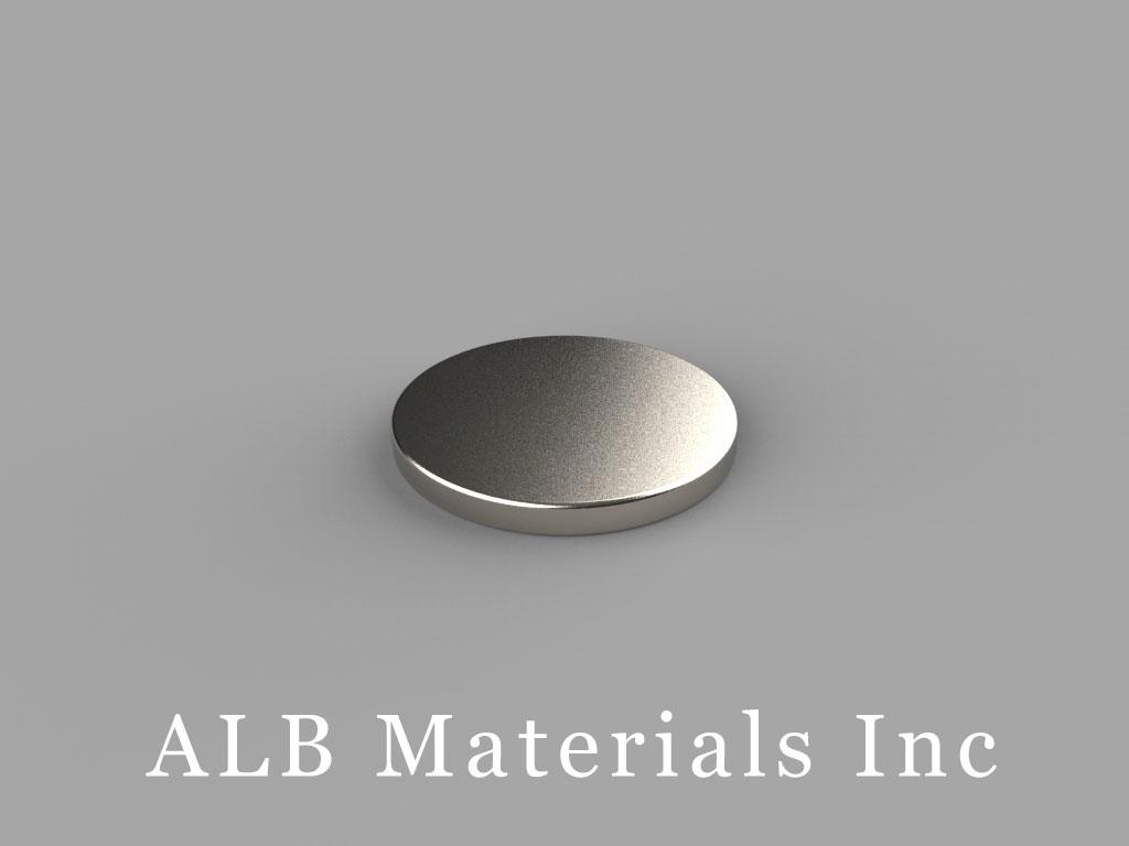 DA1-N52 Neodymium Magnets, 5/8 inch dia. x 1/16 inch thick