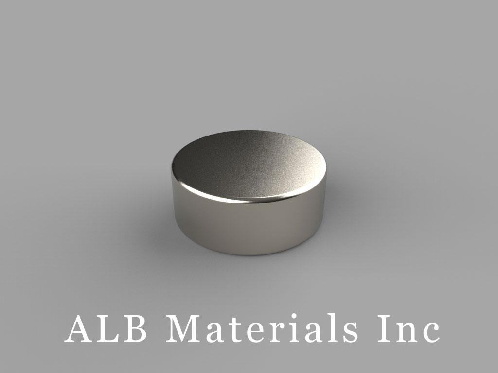 "DA4-N52 Neodymium Magnets, 5/8"" dia. x 1/4"" thick"