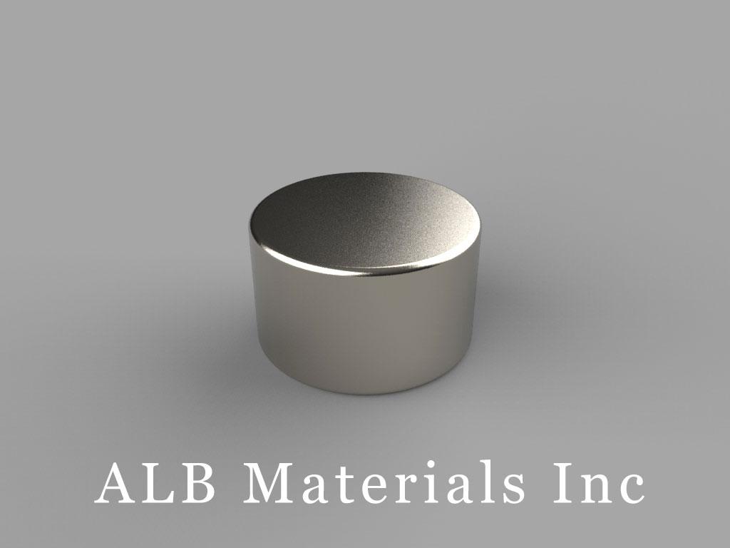"""DA6-N45M Neodymium Disc Magnets, 5/8"""" dia. x 3/8"""" thick, Pull force(lbs): 22.61, Max Temp 100°C"""