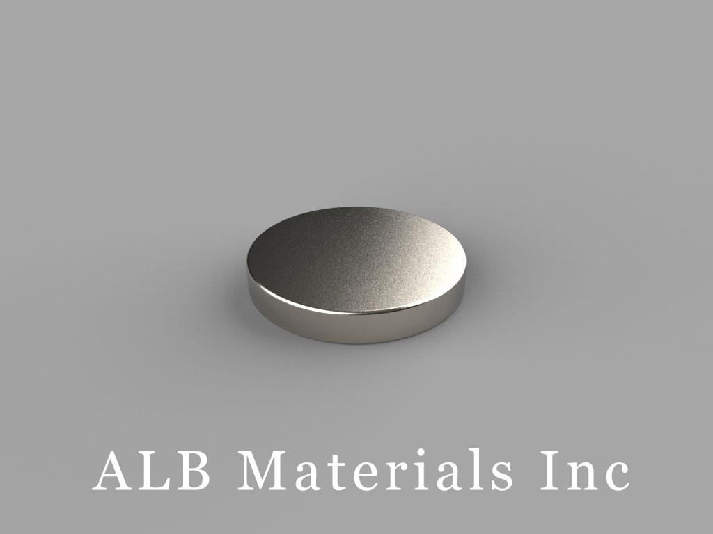DAH1 Neodymium Magnets, 5/8 inch dia. x 1/10 inch thick