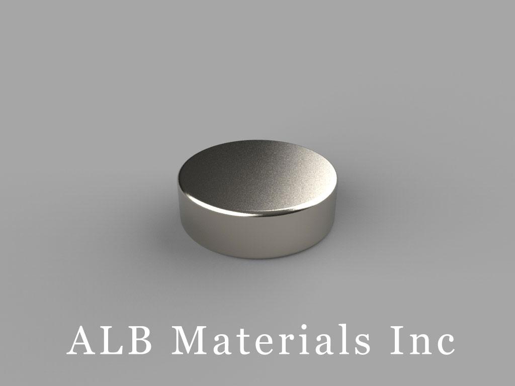 "DAH2 Neodymium Magnets, 5/8"" dia. x 2/10"" thick"