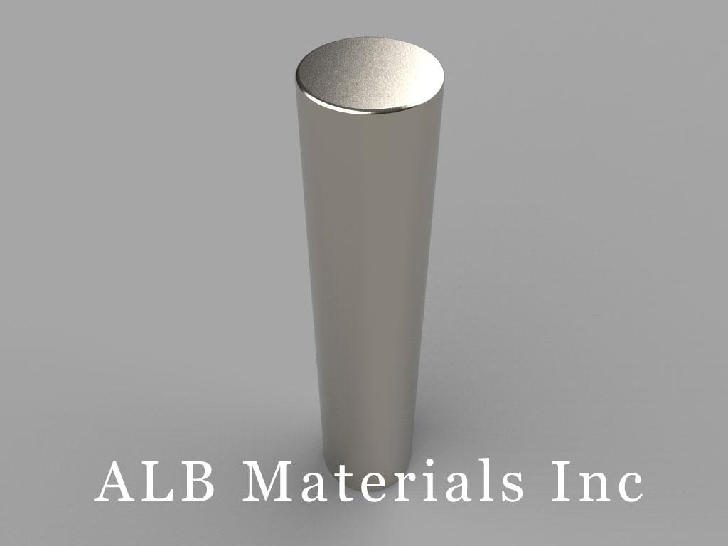 DAZ0 Neodymium Magnets, 5/8 inch dia. x 3 inch thick
