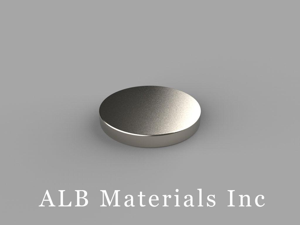 DB03 Neodymium Magnets, 11/16 inch dia. x 3/32 inch thick