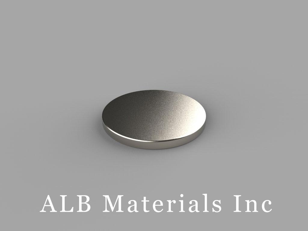 DB1 Neodymium Magnets, 11/16 inch dia. x 1/16 inch thick