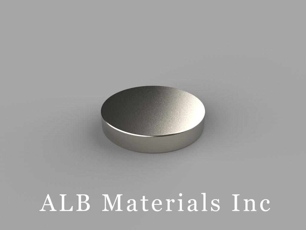 "DB2 Neodymium Magnets, 11/16"" dia. x 1/8"" thick"