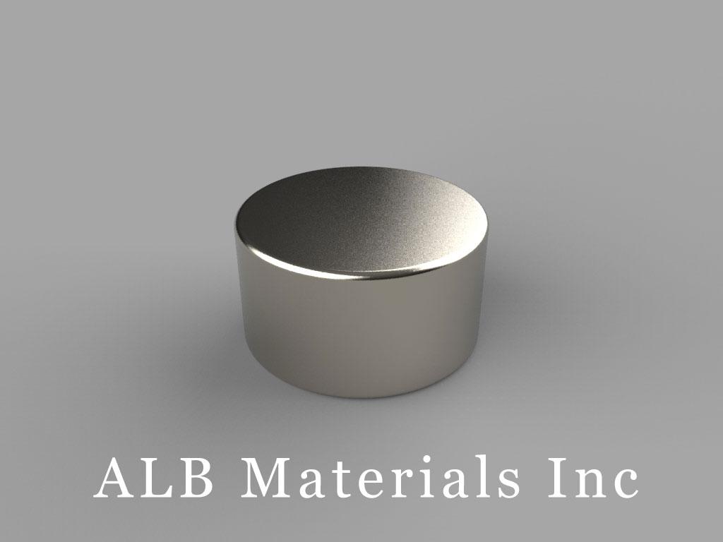DB6 Neodymium Magnets, 11/16 inch dia. x 3/8 inch thick