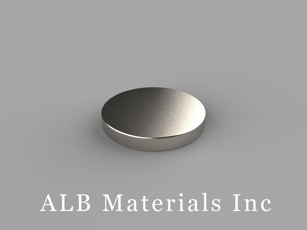 DBH1 Neodymium Magnets, 11/16 inch dia. x 1/10 inch thick