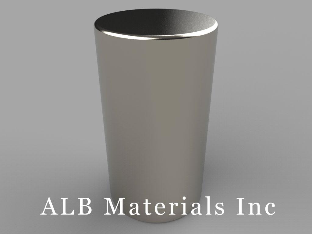 "DBX4-N30UH Neodymium Disc Magnets, 11/16"" dia. x 1 1/4"" thick, Pull force(lbs): 37.75, Max Temp 180°C"