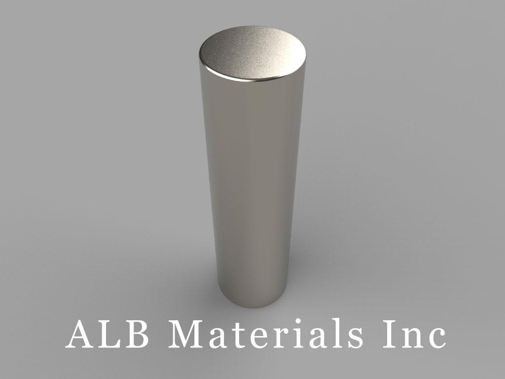 DBY8 Neodymium Magnets, 11/16 inch dia. x 2 1/2 inch thick