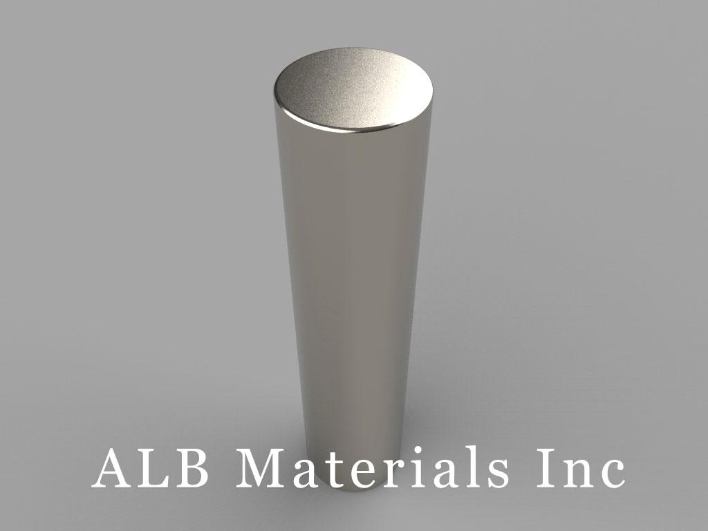 DBZ0 Neodymium Magnets, 11/16 inch dia. x 3 inch thick
