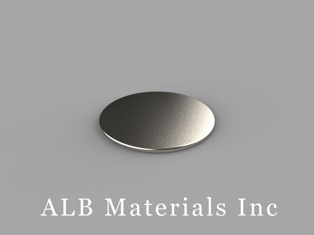 DC01 Neodymium Magnets, 3/4 inch dia. x 1/32 inch thick