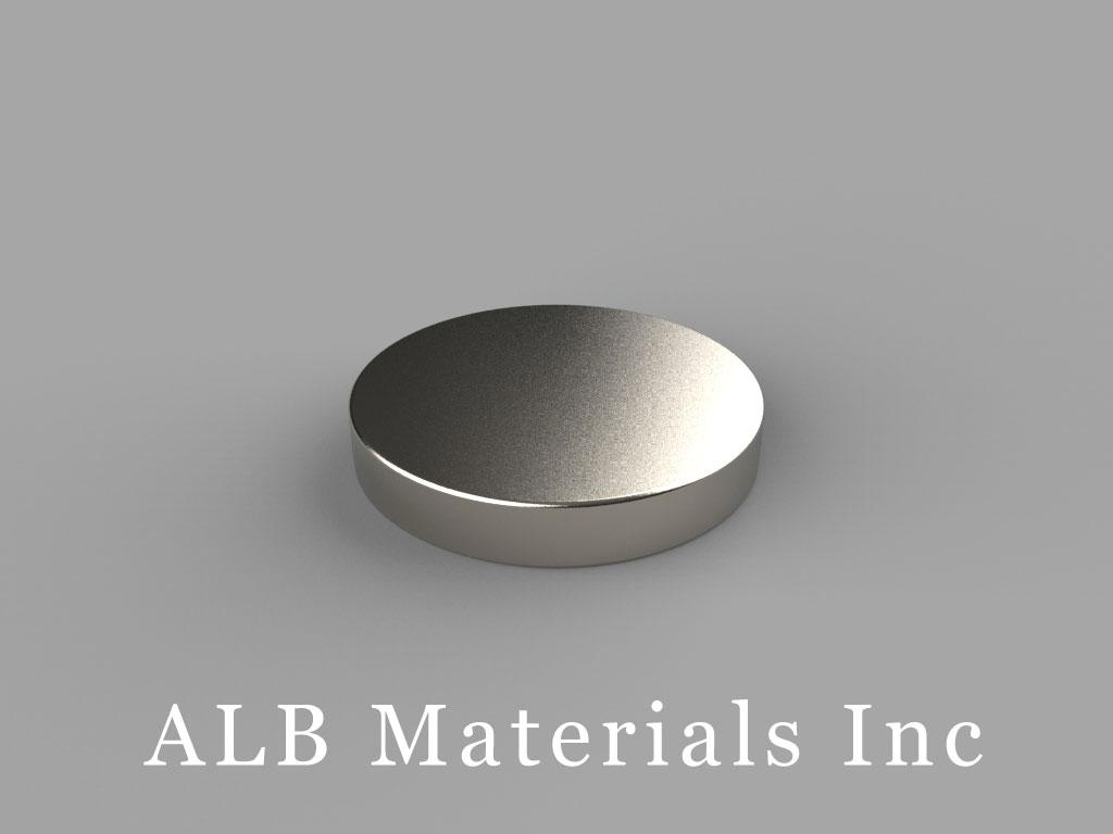 DC2 Neodymium Magnets, 3/4 inch dia. x 1/8 inch thick