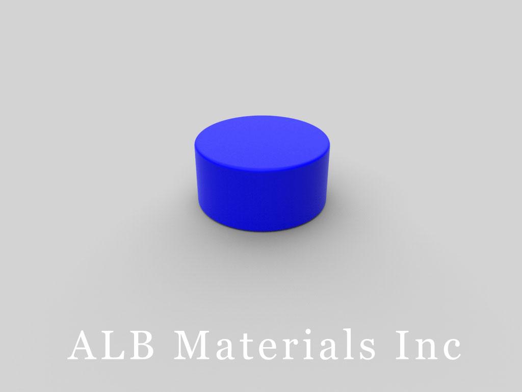 DC6PC-BLU Plastic Coated Neodymium Magnets